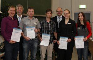 Verleihung der Urkunden zum Domo-IT-Stipendium