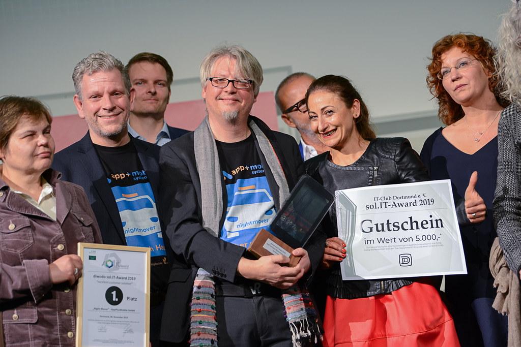 Das AppPlusMobile-Team freut sich über den Gewinn des solIT-Award 2019